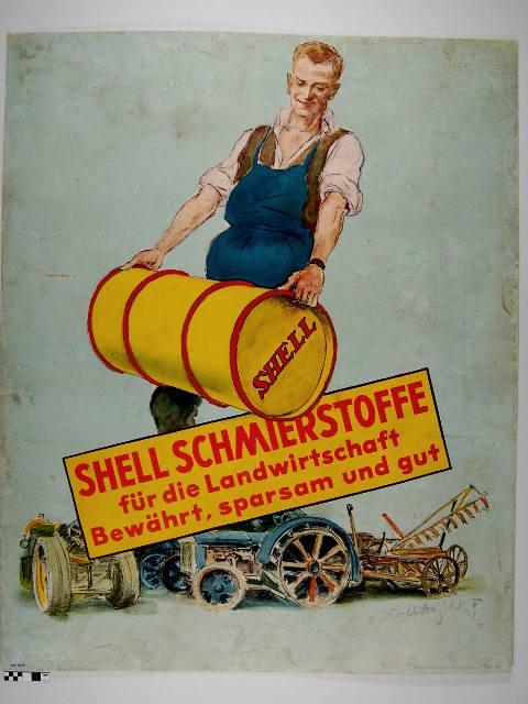 Plakat nach der Restaurierung